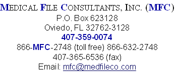 MEDICAL FILE CONSULTANTS, INC. (MFC)
